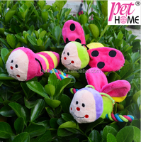 2015 newest wholesale bee with rope dog chew toy squeaky pet toy