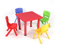 Plastic children furniture colorful baby square study tables children plastic square table with chair adjustable