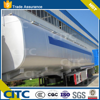 Truck Oil Tanker Crude Oil Tank Semi Trailer Fuel / Petroleum 45000l steel fuel tanker semi trailer