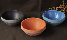 Hot Sale Wholesale colorful Ceramic small Flower pots with stone finish for home decoration