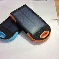 Colorful solar Mobile Power Bank 6000mah Water Resistance / Dustproof Portable with LED light