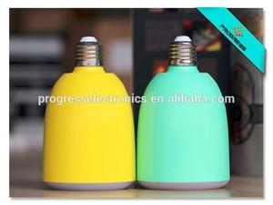 A mené la lumière enceinte, sans fil bluetooth audio e27 lampe led intégré- haut parleur musique pss-bts-h1 ampoule d'éclairage