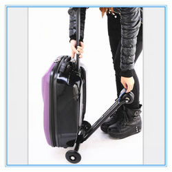 Hot new products for 2015 scooter luggage trolley wheel luggage with scooter