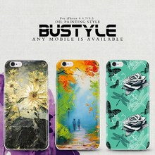 Ultrathin TPU 3D Oil painting design soft case for iPhone 6 plus customized patterns are available