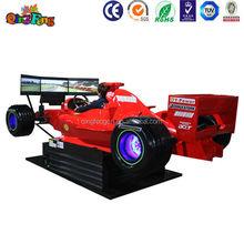 Qingfeng caliente venta arcada 3d simulador de conducción de automóviles con 3 pantallas