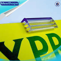 Plastic PVC Extruded Plastic Shelf Talkers Sign Holders Tag Holders Clips for Supermaket Price Display