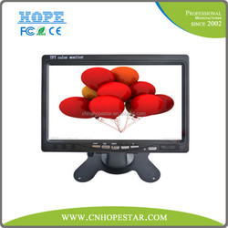 Small size car monitor 7 inch TFT LCD car monitor with AV input