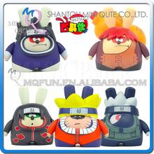 Mini Qute diy Máscara oso 6,5 cm Kawaii chicos Muñecos de acción Anime Naruto plástico modelo decorativo juguete dibujos