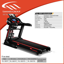 home use sports electrical treadmills with 490mm running belt ,motor peak value up to 4.0hp , speed up to 18km/h