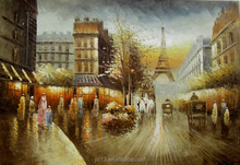welcome Trading company order oilpainting,new handmade paris street painting