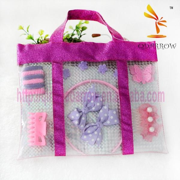 Фиолетовый пластиковые дети аксессуары для волос комплект