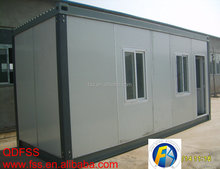 Prefabricated folding house container