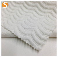shaoxing manufacturer bonded polyester stretch jacquard fabric for fashion garment
