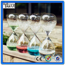 Beautiful upward liquid glass sand timer/Liquid bubble Sand Timer/promotional gift liquid bubble hourglass