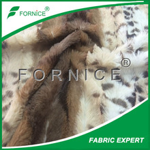 polyester printed brushed soft knitted pv plush fabric