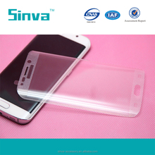 Silver Full Cover Curved Edge Glass Screen Protector Film for Galaxy S6 Edge Plus with Trade Insurance accept Paypal