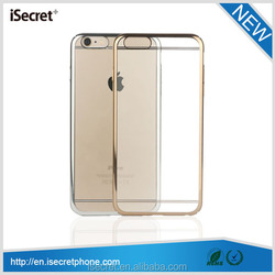 2015 Full protective electroplate hard PC phone case for iPhone 6 case
