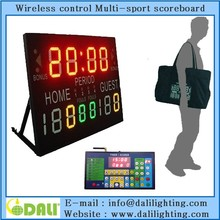 User Friendly indoor hall multisport scoreboard