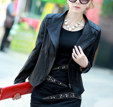 high quality pu leather jackets for ladies