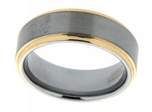 sell direct from factory cheap wholesale gold tone wedding man tungsten ring