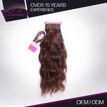 Soft Touch Customized Color 100% Natural Wave Human Hair Weave Gray