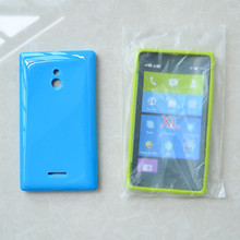 New Stylish Silicone TPU Soft Gel Back Cover Case For Nokia XL with opp bag package
