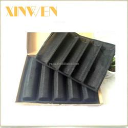 Chain restaurants use economical 5 rolls black silicone baking bread form