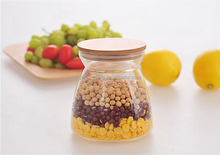 Colored Hand Painted Glass Jars with Lids/Wholesale Glass Storage Food Container
