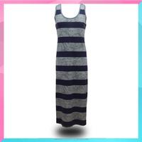 OEM manufacturer summer sleeveless striped long dress
