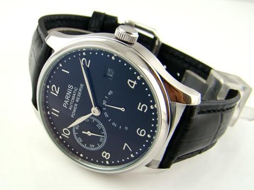 Бесплатная доставка 43 мм Роскошный Черный Циферблат Запас хода Автоматическая Мужские Часы PA4302SB P004