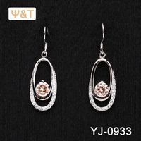 2016 Beautiful pave diamond hoop earrings ear zoom hearing aid 14 karat gold jewelry wholesale