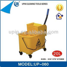 Small mop bucket with wringer for hotel/houstital /housekeeping cleaning,UP-060