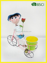 Hot selling decoration garden metal bicycle flower pot stand