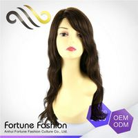 Comfy Top Quality Soft And Shiny End Lace Full Skin Human Eagle High Wigs