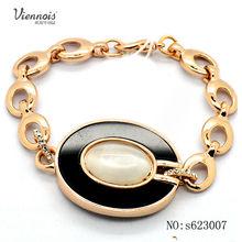 pulsera de acrílico de oro chapado de moda