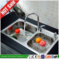 China manufacturer best 304 deep double bowl stainless steel kitchen sink