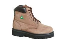 "6"" CSA Brown Nucbuck Work Boots"