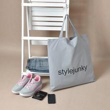 Custom Text Printing New Fashion Korea Cartoon cat cotton canvas tote travel folding shopping shoulder bag