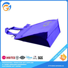 Reusable Purple Cotton Plastic Shopping Bag