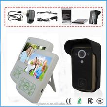 "2.4G 3.5"" Night Vision PIR Wireless Video Door Phone Access Control System"