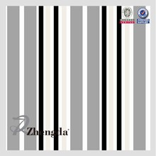 100% polyester oxford stripe fabric black and white
