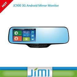 smart car gps navigation with rearview camera JIMI new JC900 google navigation rearview mirror DVR