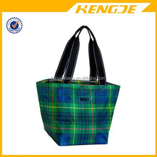 2015 reinforced bottom Stewart plaid Zip-Top Tote bag shopping bag