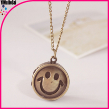 creative necklace watch wholesale Smiling face pocket watch