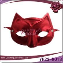 Simple desigen red masquerade cat face PVC party mask