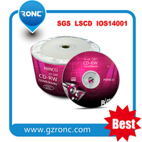 Guangzhou Ronc/OEM logo high quality blank cdrw match your re-recordable need