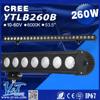 Superior Quality 55 inch 260w curved 4x4 led light bar MILITARY EQUIPMENT LED BAR LIGHT Waterproof Led Light Bar 53.5