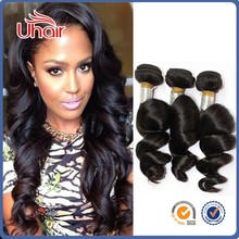 Alibaba Golden Suppliers Unprocessed Double Weft Remy Hair loose wave hair weave
