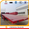 3 axles 40ft semi truck trailer platform trailer for containers