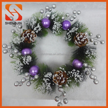 SJ-6546 Wholesale Christmas decorations, plastic Christmas wreaths, garlands balls mushrooms
